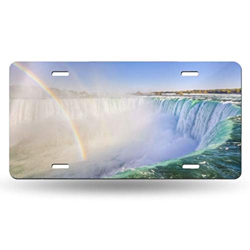 ZENPREI Niagara Falls License Plate,Decorative Car Front Vanity Tag,Metal License Plate,Aluminum Novelty License Plate,6 X 12 Inch (4 Holes)