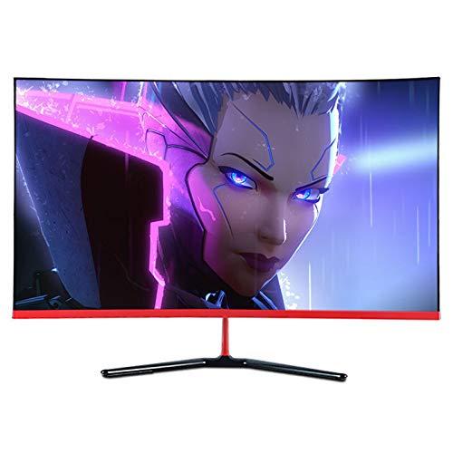 YILANJUN Monitor 32' (Full HD, 1920 x 1080 Pixeles, Pantalla Curva 1800R, Filtro de Luz Azul y Protección para Los Ojos, 178 ° Ángulo de Visión Amplio), 1 ms 144 HZ [HDMI + DP + Interfaz USB, 1080P]