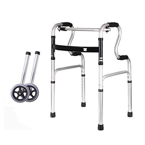 YHANS Gehhilfe mit Sitz und Rädern, höhenverstellbares Handicap für Senioren Gehhilfe für Erwachsene Leichtes Gehhilfe mit abnehmbarem Rad,A