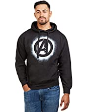Marvel Heren Avengers Stencil Logo Hood Hoodie