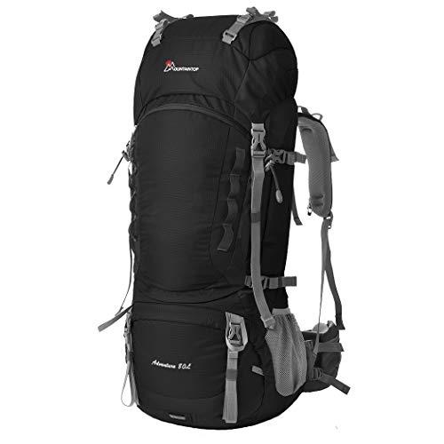 MOUNTAINTOP 80L Outdoor Erwachsene Wanderrucksäcke Trekkingrucksäck Reiserucksäck mit Regenhülle