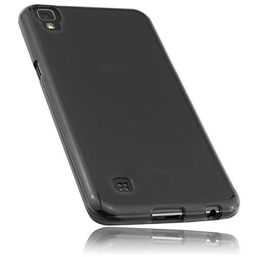 mumbi Hülle kompatibel mit LG X Power Handy Hülle Handyhülle, transparent schwarz