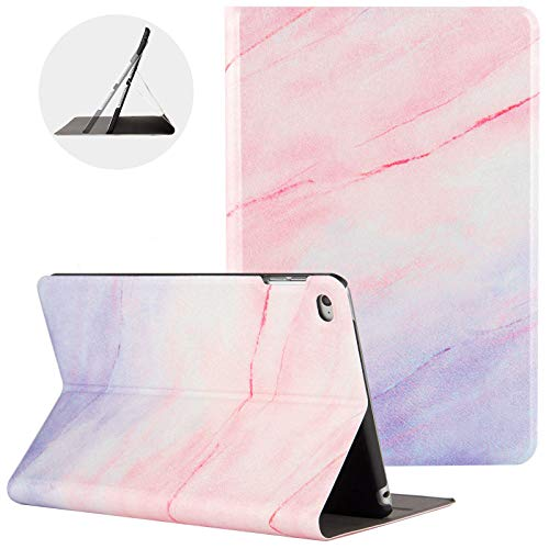 iPad Mini 5 Case 2019, iPad Mini 4 Case, Uliking [Marble Map Series] PU Leather Shockproof Shell Stand Smart Cover with Auto Wake/Sleep for Apple iPad Mini 5th/4th Gen 7.9' Tablet, Pink/Purple Marble