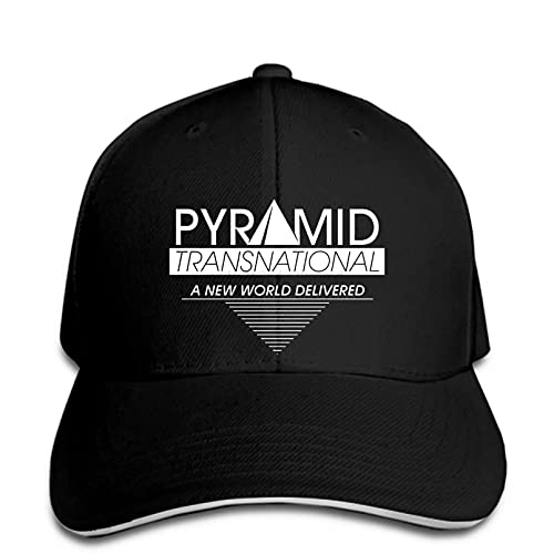N/A Gorra de béisbol Impresa Reloj Hombre Pyramid Moore Snapback Hat Pico Ajustable Casual Divertido Deportes al Aire Libre Gorra de camión