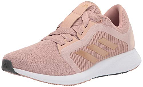 adidas womens Edge Lux 4 Running Shoe, Pearl/Copper Metallic/White, 7.5 US