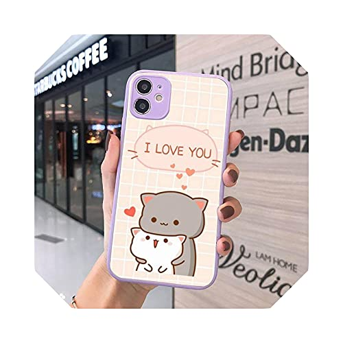 Lovely and Beautiful AnimalsCat Cute Kitten - Carcasa mate para iPhone 7, 8, 11, 12 s, Mini Pro X, XS y XR Max Plus Cover - A6 para iPhone XR