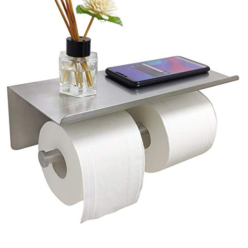 Top 10 best selling list for double toilet paper holder with metal cover and shelf