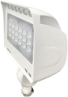 10W 3000 K Morris 71337 LED ECO-Floodlight with 1//2 Adjustable Knuckle 983 lm White Morris Products