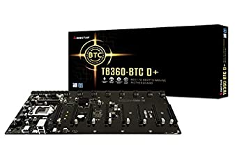Biostar TB360-BTC D+  Intel 8th and 9th Gen  LGA1151 SODIMM DDR4 8 GPU Support GPU Mining Motherboard