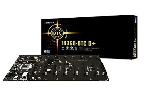 Biostar TB360-BTC D+ (Intel 8th and 9th Gen) LGA1151 SODIMM DDR4 8 GPU Support GPU Mining Motherboard