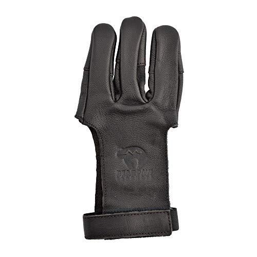 Bearpaw Bogenhandschuh Schießhandschuh Zielgenleder S-XL Damaskus XS-XL (L)