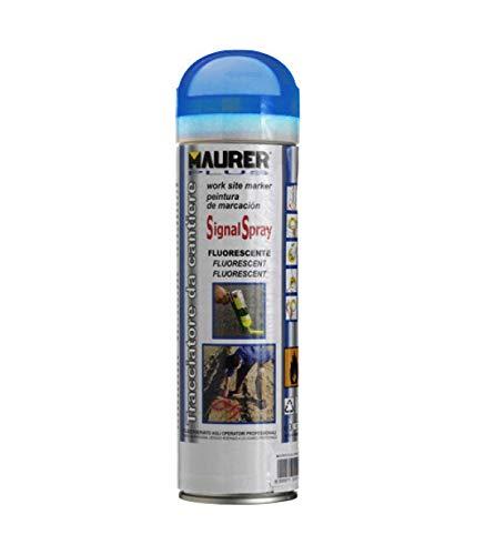 Maurer Spray peinture traceur Bleu Fluorescent 500 ml