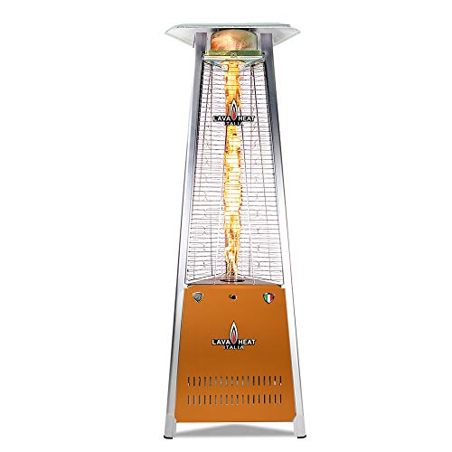 Amazing Deal Lava Heat Italia PLSF60125C Capri 72″ Triangle Glass Tube Outdoor Patio Heater, Deep Orange
