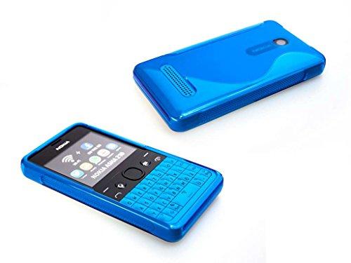 caseroxx TPU-Hülle für Nokia 210, Handy Hülle Tasche (TPU-Hülle in blau)