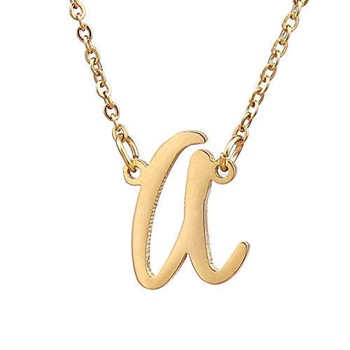 Initial A-Z Stainless Steel, Silver and Gold Necklace