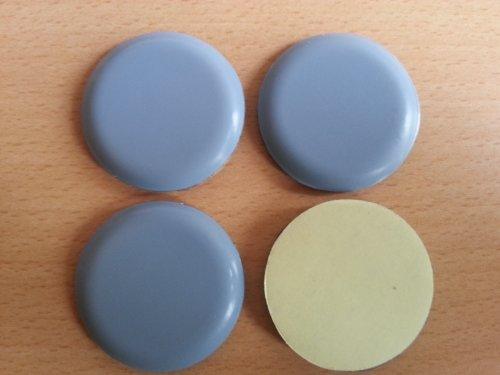 4 Stück Teflon-Möbelgleiter Ø 40 mm Selbstklebend, PTFE-Gleiter, Teflongleiter