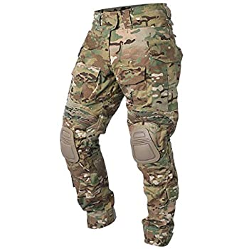 IDOGEAR G3 Army Combat Pants Knee Pads Multicam/Black Pro for Airsoft Hunting Military Paintball Outdoor Camo Rip-Stop Tactical Trousers  Multicam Small  30W/31L
