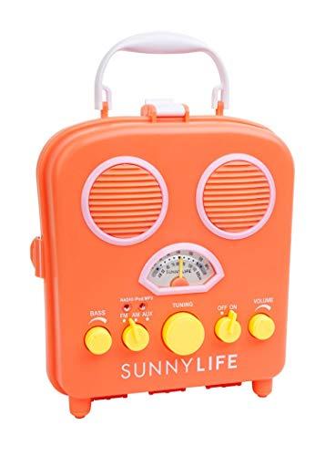 Retro Design Coral Portable Radio MP3 Speaker System Orange Beach Boombox by Sunnylife Australia