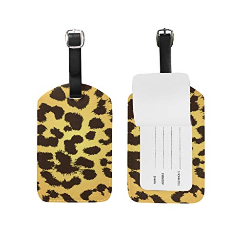 Chic Houses 2031221 - Etiquetas de Viaje para Equipaje, diseño de Leopardo, Color Dorado