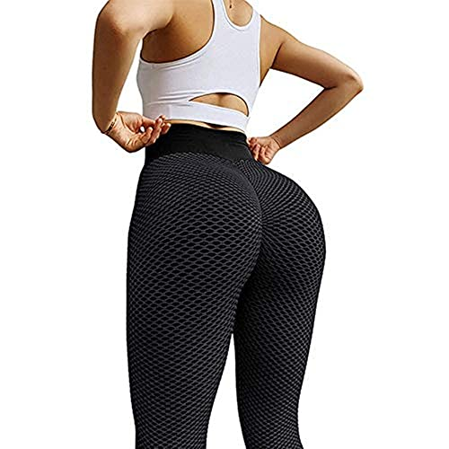 Damen Sport Leggins Gym Sporthose Yogahose Anti Cellulite Hohe Taille Sportleggins Sexy Booty Push Up Trainingshose Jogginghose Hotpants Kompression Sport Fitness Leggings mit Bauchkontrolle