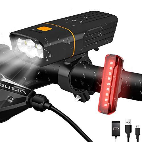 AlpsWolf Rechargeable Bike Lights Headlight and Back Light