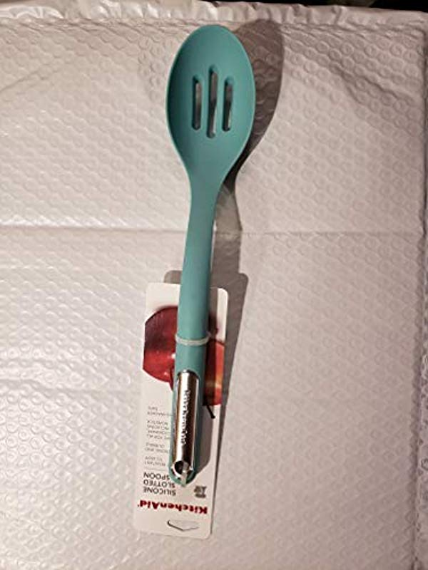KitchenAid KL004OHAQA Slotted Spoon 13 5 Inches Aqua
