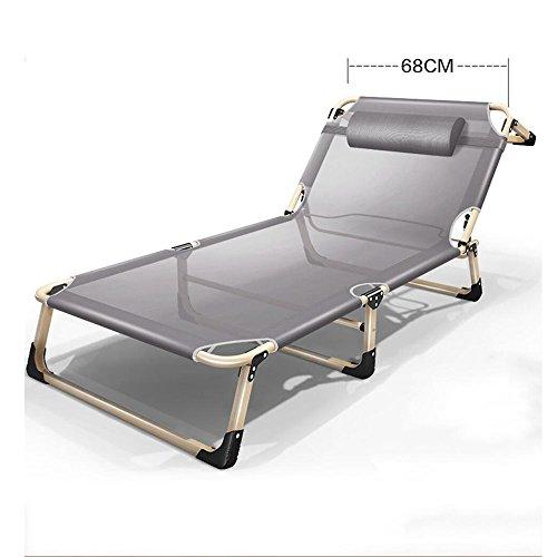 Xiaolin Lit Pliant Respirant Bureau allongé Chaise déjeuner Pause lit lit d'accompagnement lit de Plage (Couleur : 03)