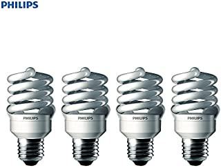 Philips 433557 100-watt Equivalent, Daylight Deluxe (6500K) 23 Watt Spiral CFL Light Bulb, 4-Pack.