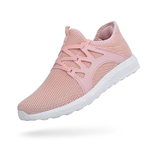 Feetmat Womens Tennis Shoes Sneakers Ultra Lightweight Breathable Mesh Athletic Walking Running Shoes Pink 8