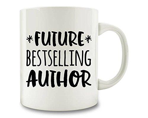 Lplpol Autor Geschenk Schriftsteller Geschenk Future Bestseller Autor Kaffeetasse, weiß, 11 oz