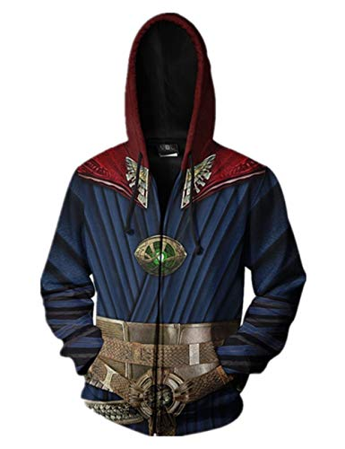 PONGONE Super Hero DS Cosplay Hoodie Halloween Sweatshirt Costume Pullover/Zipper Hoodie S
