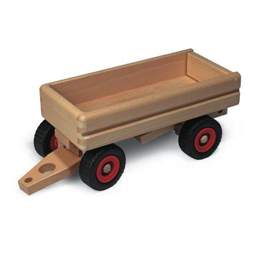 Fagus 10.46Holz Holz Spielzeug-Ziehen–Spielzeug Drag (Holz, Holz, Kinder/Mädchen, 4Reifen (S), Schwarz/Rot, 330mm