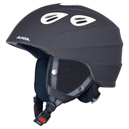 Alpina Sports Unisex– Erwachsene JUNTA 2.0 C Skihelm, Black matt White, 54-57