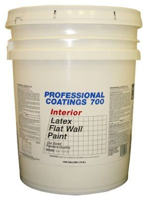 True Value ACP10-5G PCG 5GAL White Flat Paint