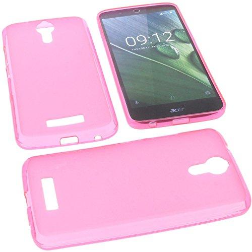 foto-kontor Tasche für Acer Liquid Zest Plus Gummi TPU Schutz Handytasche pink