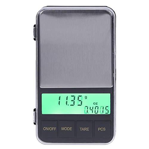 500g / 0 01g Mini balanza digital de bolsillo con retroiluminación LCD balanzas electrónicas de joyería herramienta de pesaje con contenedor de pesaje especial