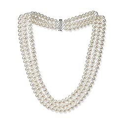 pearl necklace with sterling clipper