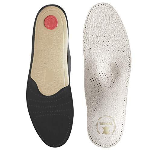 Bergal Soft Luxus Leder-Einlegesohle mit Fussbett Größe 42