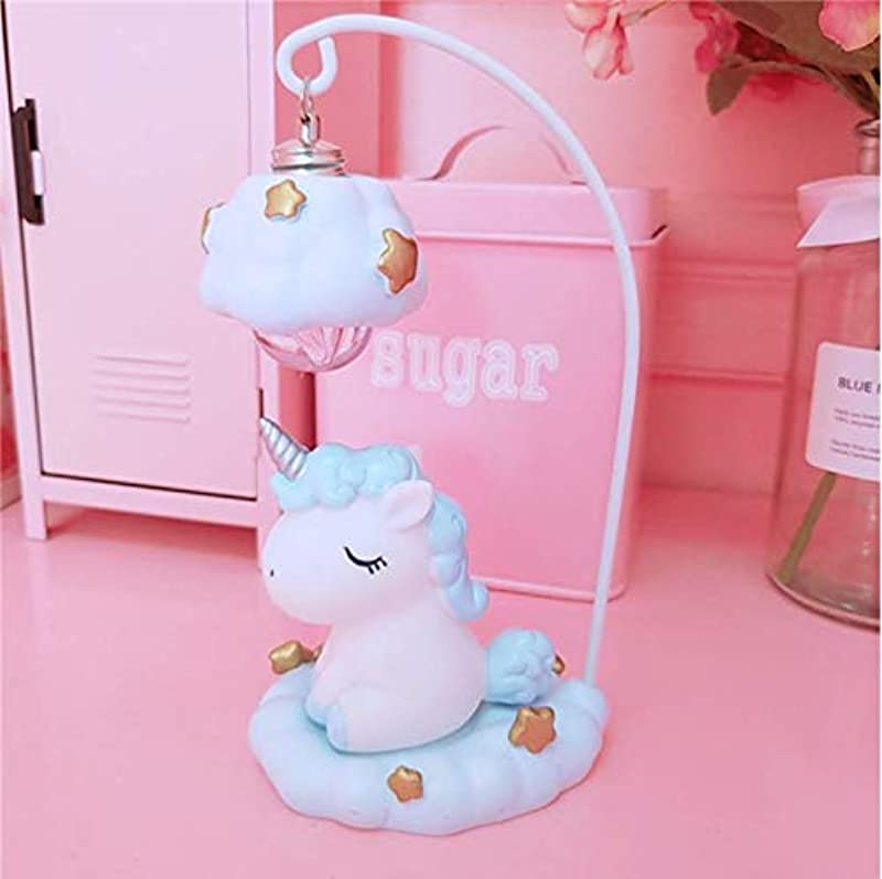 Hnfsliuhao Night Lights Cute Cartoon Led Night Light Home Decor Light Resin Unicorn Light Bedside Table Lamp For Baby Children Kids Girls Birthday Gift