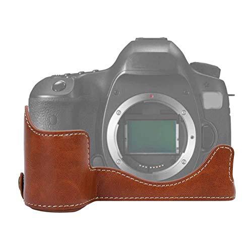 Camera beschermhoes, half lichaam, PU lederen cameratas, hoes voor Canon EOS R (bruin)