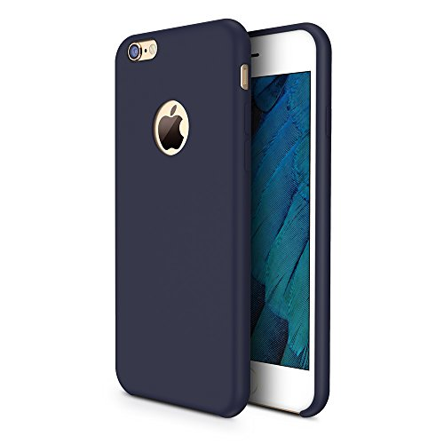 TORRAS [Love Series iPhone 6S Case/iPhone 6 Case, Liquid Silicone Rubber Shockproof Case with Soft Microfiber Cloth Cushion Compatible with iPhone 6 / 6S, Dark Blue