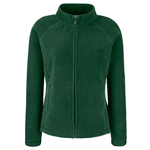 Fruit of the Loom - Lady -Fit Fleece Jacket M,Bottle Green