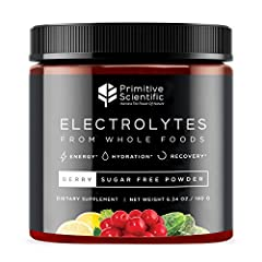 First Whole Food Electrolyte Supplement: Made from 100% natural botanical sources, the Primitive Scientific Whole Foods Electrolyte Powder is the first of its kind to offer whole-spectrum vegetarian solutions for active and healthy individuals lookin...