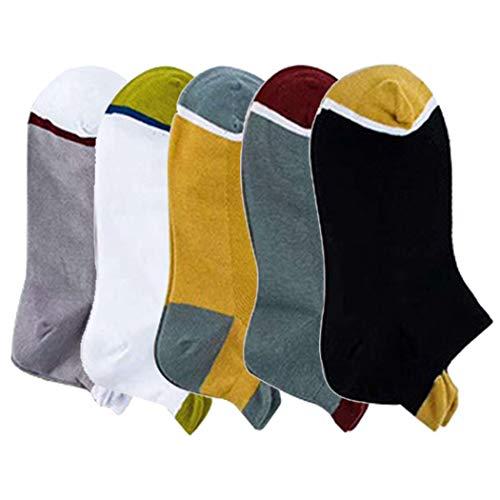 Fascigirl 5 Pairs Athletic Tab Socks Cotton Sport Socks Ankle Socks Short Socks with Heel Tab Mens No Show Socks