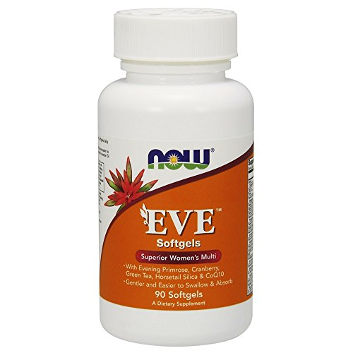NOW Supplements, Eve™ Women's Multivitamin with Evening Primrose, Cranberry, Green Tea, Horsetail Silica & CoQ10, 90 Softgels