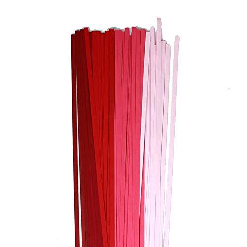 Karen Marie Klip: Quilling Papierstreifen Mix Rose, 5x450mm, 120 g/m2, 160 Streifen