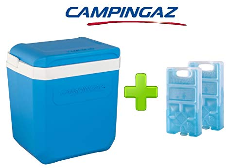 GHIACCIAIA ICETIME 30 liter CAMPINGAZ van polypropyleen bevat tot 6 flessen van 1,5 liter + 2 gratis M10