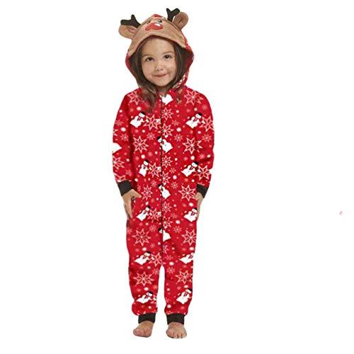 Baijiaye Pijamas de Navidad Familia Conjunto Pijamas Dos Piezas Deer Print Adultos Mujeres Niños Ropa Familiar a Juego Pijamas 03 (Muñecos de Nieve) -Bebé 3 Meses