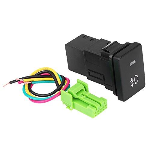 Qiilu Interruptor basculante LED para Coche, Encendido/Apagado para Toyota Camery Yaris Highlander Prius Carora(Patrón de luz antiniebla)