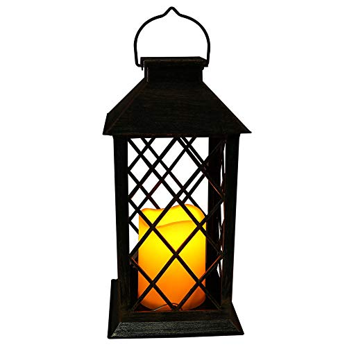 1pc Solar Power Candle Lamp Outdoor Solar Lanterns Hanging Lamp Table Lamp Night Light Warm Lighting for Courtyard Party Walkway